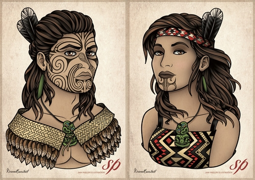 portraits,art,maori,indigène,design,tatouage